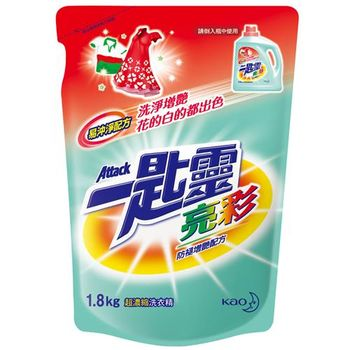 任選-一匙靈 亮彩超濃縮洗衣精補充包 1.8kg