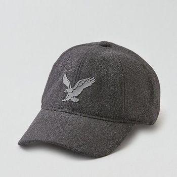 【American Eagle 】2016男時尚羊毛大老鷹碳灰色棒球帽(預購)