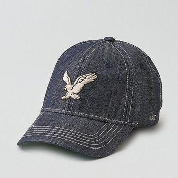 【American Eagle 】2016男時尚牛仔布大鷹標靛藍色帽子(預購)