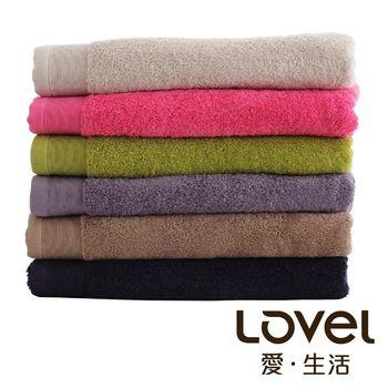 Lovel 經典御用級素色加厚純棉浴巾6件組(共6色)