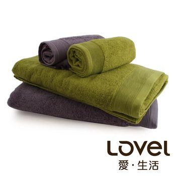 Lovel 經典御用級素色加厚純棉浴巾/毛巾2件組(共6色)