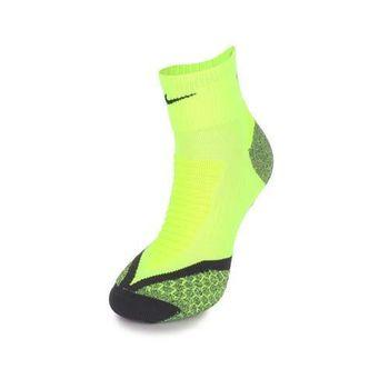 【NIKE】男慢跑專業避震短襪-襪子 路跑 螢光黃黑