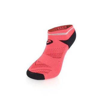 【ASICS】男反光慢跑踝襪-短襪 慢跑 路跑 襪子 亞瑟士 鐵人三項 陽光桔黑