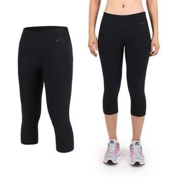 【NIKE】女針織中長褲-慢跑 路跑 健身 訓練 黑   彈性褲頭
