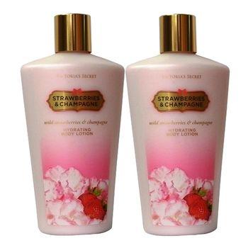 Victoria's Secret身體香水乳液~草莓香檳(二入組)