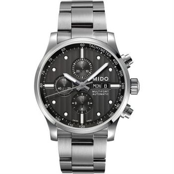 MIDO Multifort Chrono Valijoux計時碼錶-黑/44mm M0056141106100