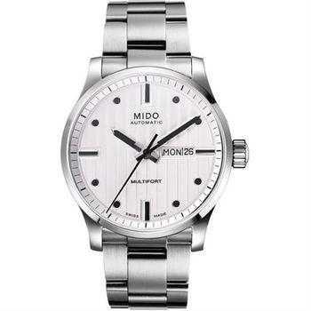 MIDO Multifort 系列經典鋼帶機械錶-白/44mm M0054301103180