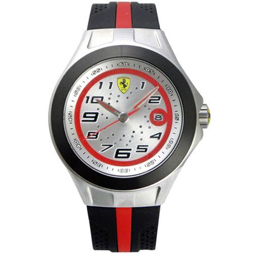 Scuderia Ferrari 法拉利 鋼鐵競速賽車日期運動腕錶-銀x黑/44mm/FA0830021
