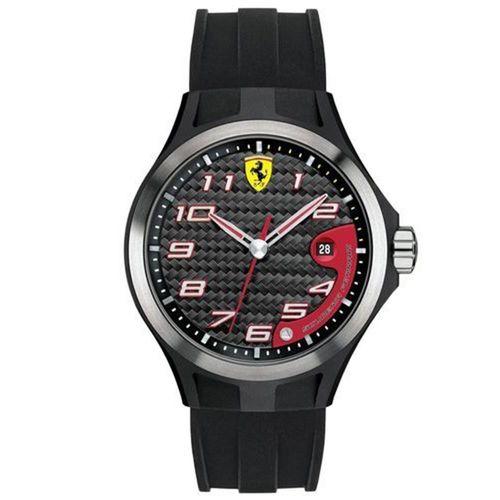 Scuderia Ferrari 法拉利賽車紅色時尚腕錶-膠帶款/44mm-FA0830012