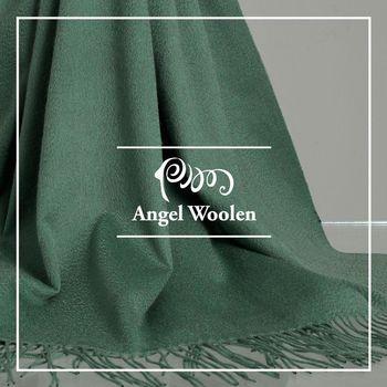 【ANGEL WOOLEN】柔雅流蘇100%Cashmere羊絨披肩 圍巾(共兩色)