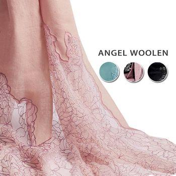 【雙11 買1送1】【ANGEL WOOLEN】Pashmina印度手工蕾絲披肩 圍巾(四款任選)