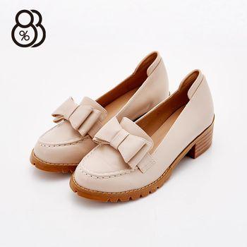 【88%】韓國製 正韓空運 氣質可愛蝴蝶結皮革 4.5cm中跟粗跟 牛津鞋 紳士鞋 2色
