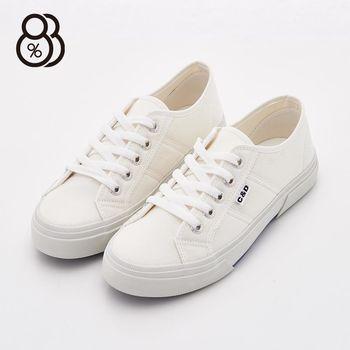 【88%】MIT台灣製 校園百搭款 素面簡約基本款 平底小白鞋 帆布鞋 休閒鞋 2色