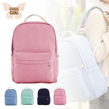 Casual Girl「陽光女孩」耐磨帆布背包-粉色