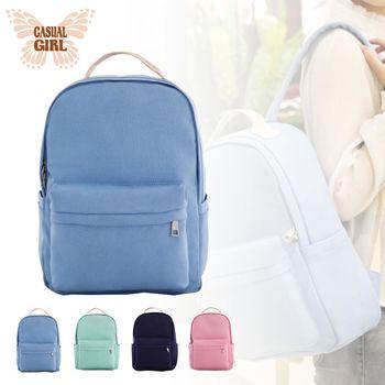 Casual Girl「陽光女孩」耐磨帆布背包-淺藍色
