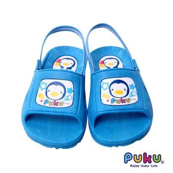 PUKU藍色企鵝 - 學步拖鞋14號(水色)