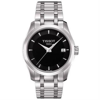 TISSOT T-Trend Couturier Lady 時尚簡約腕錶-黑/32mm T0352101105100