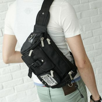 DF Bag school  - 嚴選型男專屬休閒個性款斜背/腰包2用
