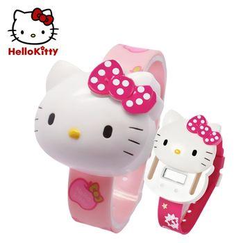 【HELLO KITTY】凱蒂貓滑蓋式電子數字錶(正版授權)