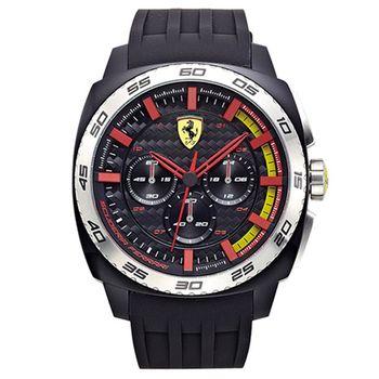法拉利 Scuderia Ferrari F1賽車工藝精典時尚運動男用腕錶/46mm/FA0830202