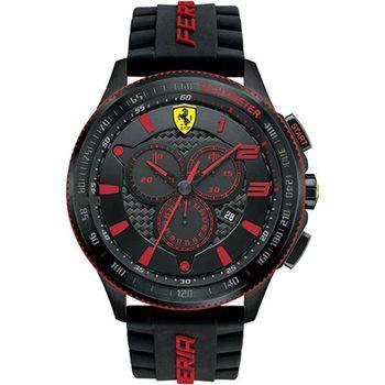 法拉利 Scuderia Ferrari SF115 法拉利碳纖維壓紋賽車設計款腕錶/48mm-FA0830138
