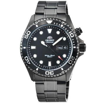 ORIENT 東方錶潛水機械鋼帶錶-IP黑 / FEM65007B (原廠公司貨)