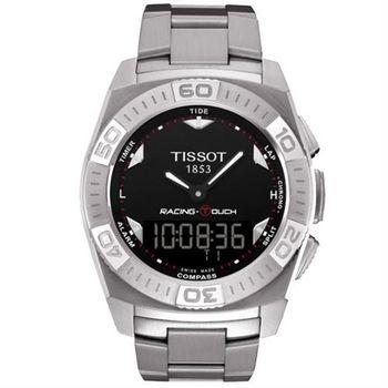 TISSOT Racing Touch 多功能觸控腕錶-黑/43mm T0025201105100