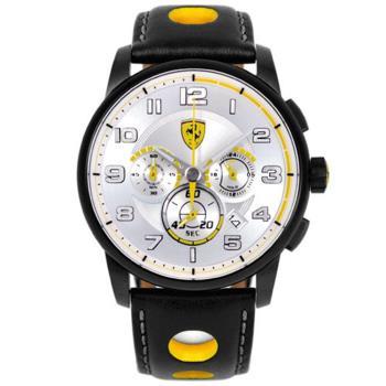 法拉利 Scuderia Ferrari F107 Heritage 法拉利儀表板設計元素三眼計時腕錶/44mm/FA0830056