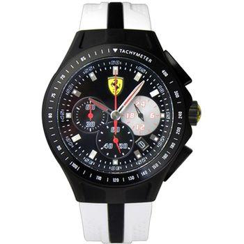 Scuderia Ferrari 法拉利賽車設計款三眼運動腕錶/44mm/FA0830026)