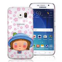 幾米 Samsung S6 透明手機殼 ^#45 藍帽小完美