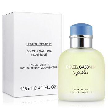 D&G DolceGabbana Light Blue淺藍男性淡香水-Tester(125ml)-送品牌針管
