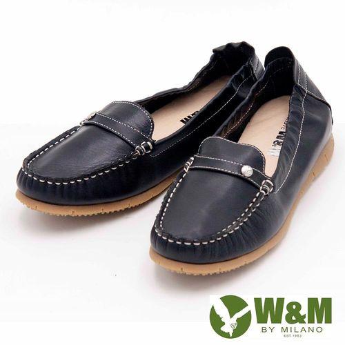 W&M 可踩式雙穿袖扣懶人鞋女鞋-黑(另有紅)
