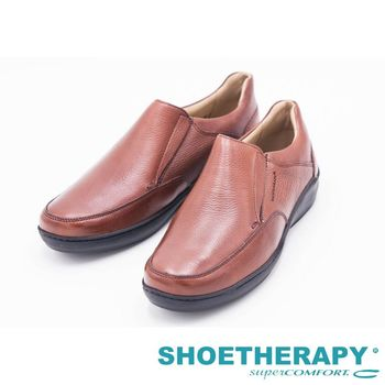 SAPATOTERAPIA 巴西有機休閒無綁帶皮鞋男鞋-棕