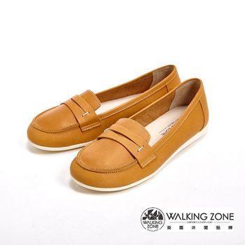 WALKING ZONE 率性雅痞風休閒鞋 女鞋-黃(另有藍)