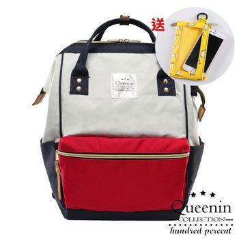 【買1送1】日本熱銷寬口大容量手提後背包-共3色(送手機袋零錢包)