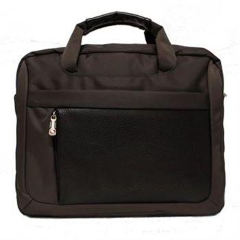 【DRAKA達卡】都會簡約公事包商務防潑水-咖啡色-斜背包/側背包/筆電包(44DK765321-8)