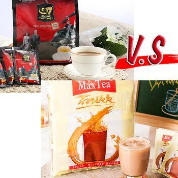【G7】三合一即溶咖啡和【MaxTea】印尼拉茶任選10袋組