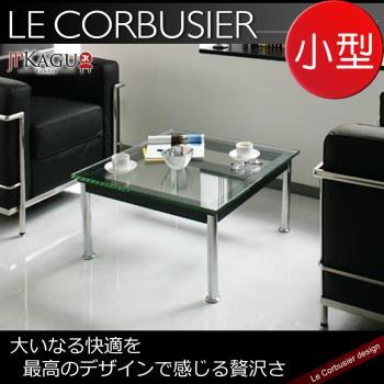 JP Kagu 柯比意設計復刻工業風強化玻璃矮桌/茶几LC10-小