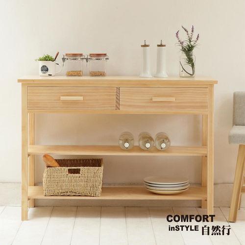 CiS自然行實木家具 電器櫃-碗盤櫃-雜貨櫃-置物櫃W110cm(水洗白色)