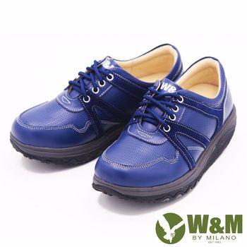 W&M FIT飛線休閒運動鞋健走鞋 女鞋-藍(另有粉)