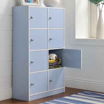 【咱的厝】DIY弗雷八門櫃/書櫃/置物櫃/收納櫃(藍色)
