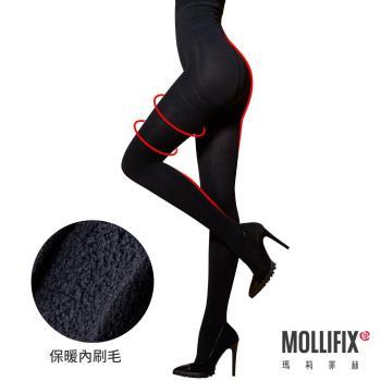 Mollifix瑪莉菲絲 踮腳尖急塑保暖收腹褲襪 (黑)