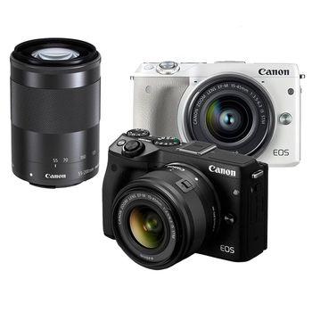 Canon EOS M3 EF-M 15-45mm+55-200mm 雙鏡組(公司貨)