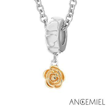 Angemiel安婕米 925純銀項鍊 玫瑰(金色)