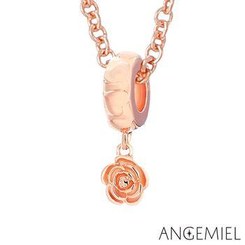 Angemiel安婕米 925純銀項鍊 玫瑰(玫金)