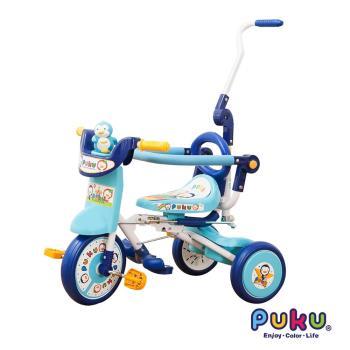 PUKU藍色企鵝 - 豪華型輔助三輪車(水色)