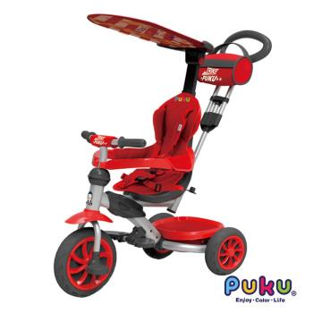 PUKU藍色企鵝 - HAPPY RIDE遮陽三輪車(紅色)