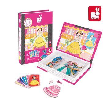 法國Janod創意兒童智玩-磁鐵遊戲書-公主設計師