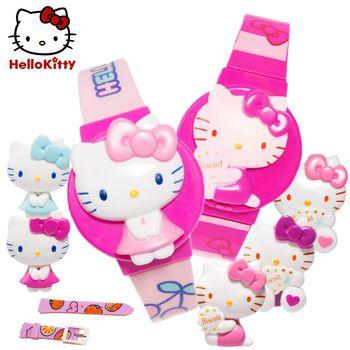 【HELLO KITTY】凱蒂貓掀蓋電子錶(正版授權)