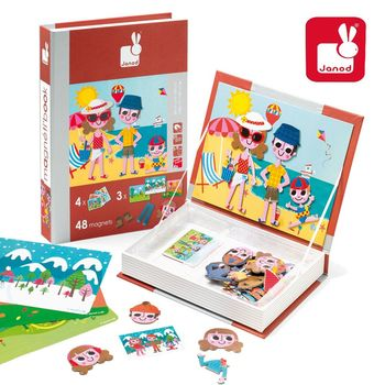 法國Janod創意兒童智玩-磁鐵遊戲書-四季